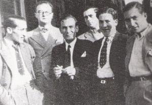 Adolfo Rodríguez Ansias, con outros membros da Directiva do ATEO