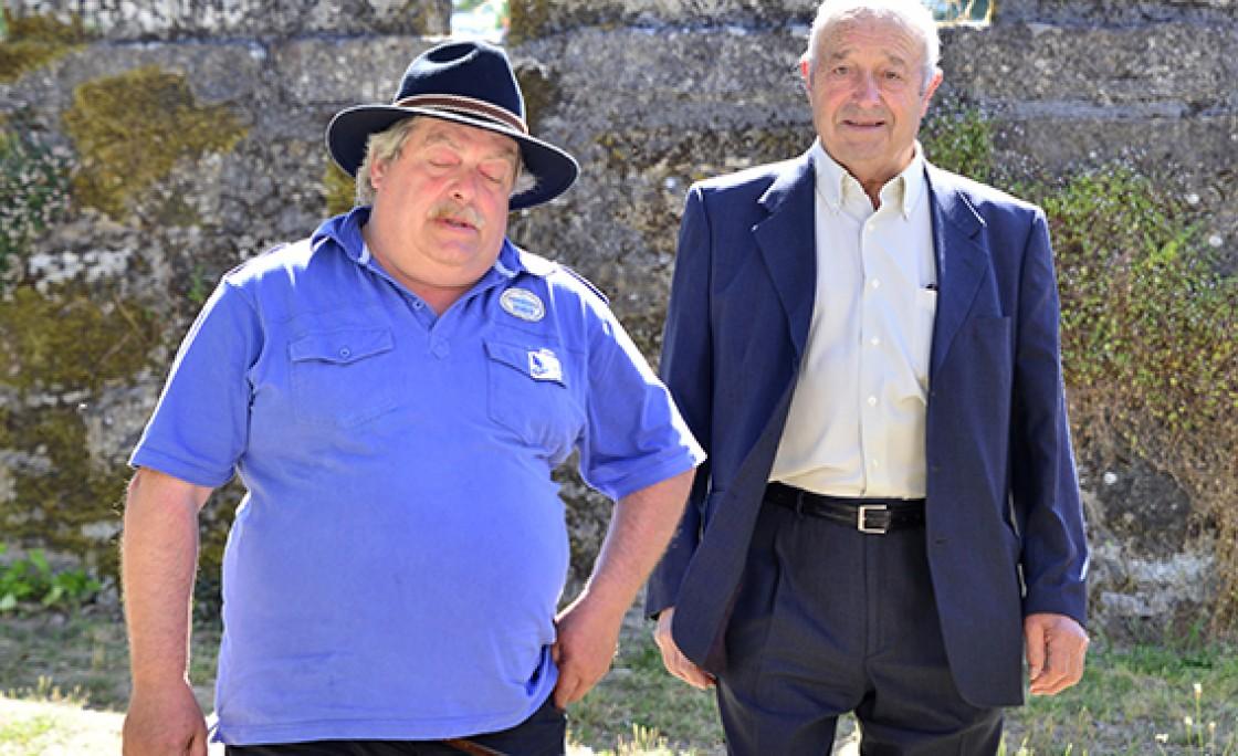 Manuel Fernández Rincón acompañado do Rubio