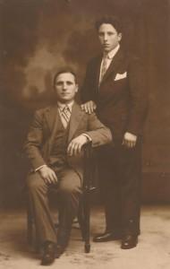 Pelaio Fernández e o seu fillo