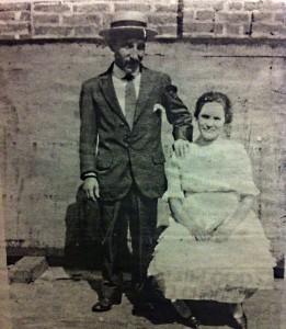 Roque Nacher Vázquez e a súa dona