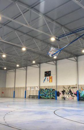 Rematada a Instalación da Iluminación Led no Polideportivo Municipal