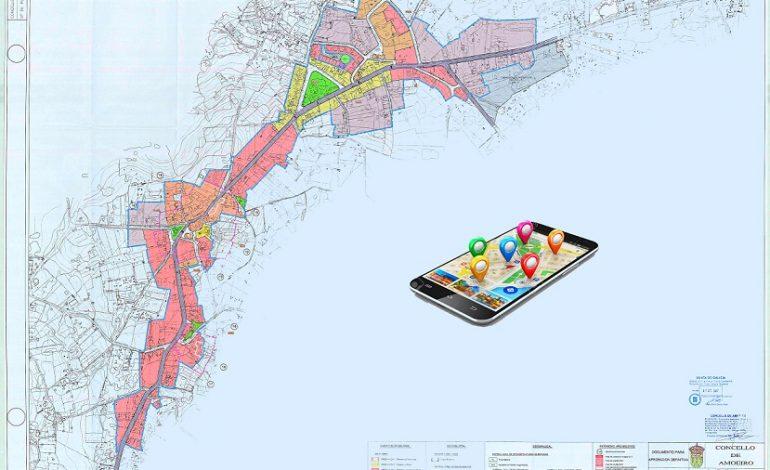 Os fogares e lugares de interese de Amoeiro localizables coas novas tecnoloxías